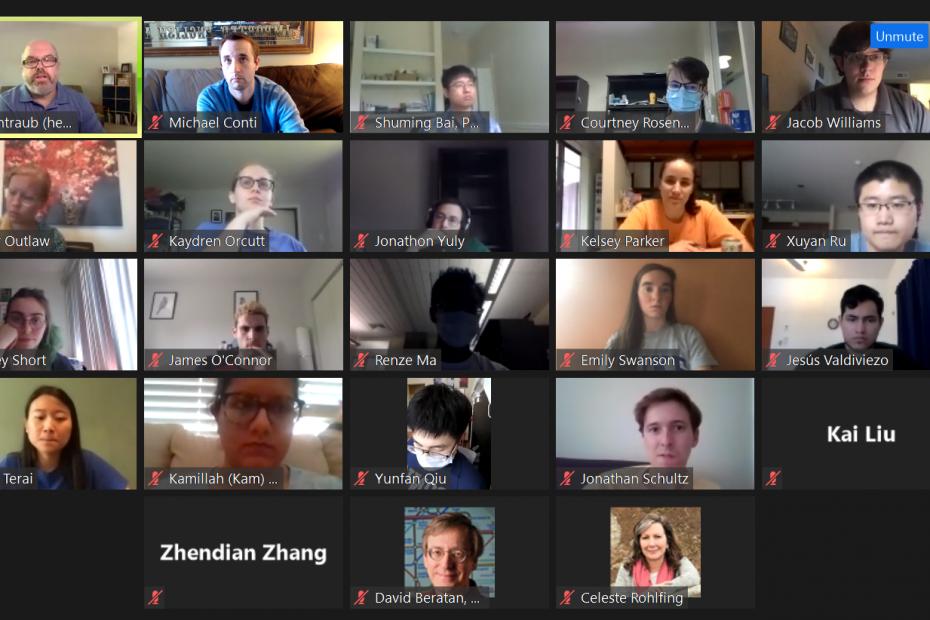 Screen shot of 2020 Science Communication Workshop